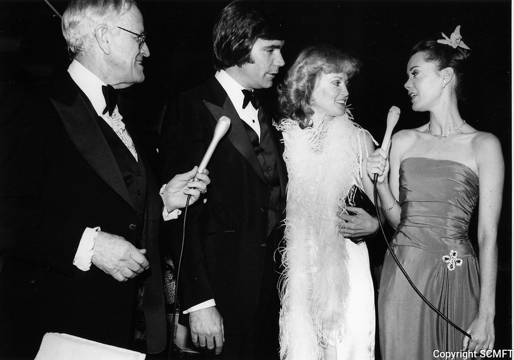 1979 Bill Welsh & Anne Lockhart interview attendees at the premiere of Hurricane at Mann's Chinese Theater