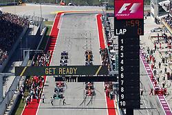 October 22, 2017 - Austin, United States of America - Motorsports: FIA Formula One World Championship 2017, Grand Prix of United States, .. Start, #44 Lewis Hamilton (GBR, Mercedes AMG Petronas F1 Team), #5 Sebastian Vettel (GER, Scuderia Ferrari), #77 Valtteri Bottas (FIN, Mercedes AMG Petronas F1 Team), #3 Daniel Ricciardo (AUS, Red Bull Racing), #7 Kimi Raikkonen (FIN, Scuderia Ferrari) (Credit Image: © Hoch Zwei via ZUMA Wire)