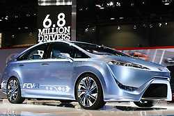 08 February 2012: Toyota FCV-r hydrogen fuel cell car.  Chicago Auto Show, Chicago Automobile Trade Association (CATA), McCormick Place, Chicago Illinois