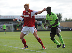Ryan Taylor of Bristol City and Forest Green Rovers Eddie Oshodi - Photo mandatory by-line: Dan Rowley/JMP  - Tel: Mobile:07966 386802 20/07/2013 -Forest Green Rovers  vs Bristol City  - SPORT - FOOTBALL - Forest Green Rovers - Bristol city  -