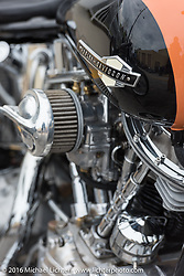 Eric Stein's 1964 custom Harley-Davidson Panhead at the Biltwell Bash at Robison's Cycles during the Daytona Bike Week 75th Anniversary event. FL, USA. Friday March 11, 2016.  Photography ©2016 Michael Lichter.