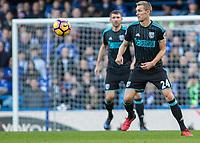 Football - 2016 / 2017 Premier League - Chelsea vs. West Bromwich Albion<br /> <br /> Referee Mike Dean at Stamford Bridge.<br /> <br /> COLORSPORT/DANIEL BEARHAM