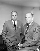 Presentation at Gypsum Industries. Gerry Creadon, Managing Director and Aidan Creadon, Director.<br /> 30.08.1968