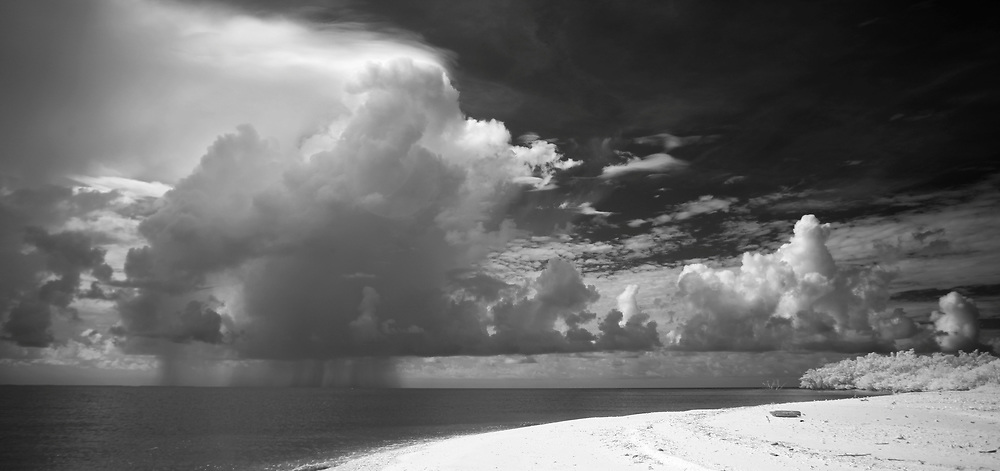 A storm produces rain behind Pavilion Key in the Florida Everglades and the 10,000 islands out of Chokoloskee Island. Photo/Andrew Shurtleff