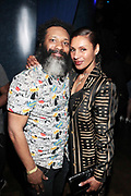 April 28-New York, New York: (L-R) Producer D' Prosper and Actress Chenoa Maxwell attends the Soul In The Horn Live: Presents Yasiin Bey curated by D'Prosper held at Sony Hall on April 28, 2018 in New York City . (Photo by Terrence Jennings/terrencejennings.com)