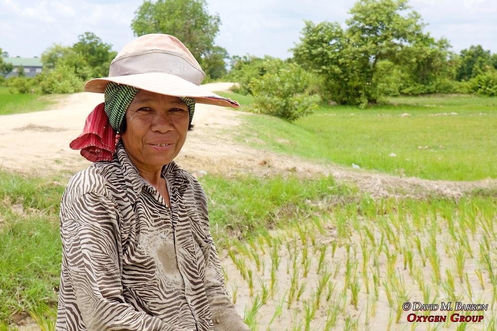 Woman Near Rice Passy