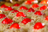 Cherry topped holiday cookies.