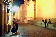 Spanje, Cordoba, 6-5-2010De oude stad bij nacht.De binnenstad rond de mezquita, kathedraal, staat op de werelderfgoedlijst.Foto: Flip Franssen/Hollandse Hoogte