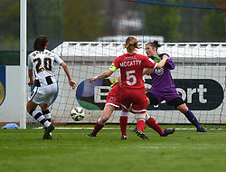 Notts County Ladies FC's Aileen Whelan scores a goal - Photo mandatory by-line: Paul Knight/JMP - Mobile: 07966 386802 - 25/04/2015 - SPORT - Football - Bristol - Stoke Gifford Stadium - Bristol Academy Women v Notts County Ladies FC - FA Women's Super League