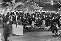 1940s Ice skaters in the concession area of The Pan-Pacific Auditorium