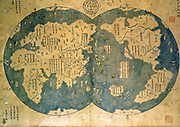 world map is believed by some to have been compiled by Zheng He.Zheng He (1371-1435), or Cheng Ho, China's most famous navigator. Starting from the beginning of the 15th Century, he travelled to the West seven times. For 28 years, he travelled more than 50,000km and visited over 30 countries, including Singapore.