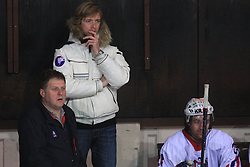 Coach Andrej Brodnik at friendly ice-hockey game between Slovenian National Team U20 and HKMK Bled, before World Championship Division 1, Group A in Herisau, Switzerland, on December 11, 2008, in Bled, Slovenia. (Photo by Vid Ponikvar / Sportida)