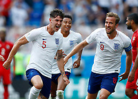 John Stones (England) celebrates goal with Harry Kane (England)<br /> Nizhny Novgorod 24-06-2018 Football FIFA World Cup Russia  2018 <br /> England - Panama / Inghilterra - Panama <br /> Foto Matteo Ciambelli/Insidefoto