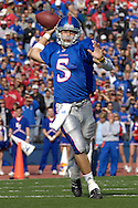 November 3, 2007 - Lawrence, KS..Quarterback Todd Reesing #5 of the Kansas Jayhawks passed for 355-yards and 6 touchdowns against the Nebraska Cornhuskers, during a NCAA football game at Memorial Stadium on November 3, 2007...FBC:  The Jayhawks defeated the Huskers 76-39.  .Photo by Peter G. Aiken/Cal Sport Media