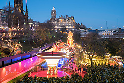 Edinburgh, Scotland, United Kingdom. 18 November, 2017. Opening day of Edinburgh's popular and beautiful Christmas market and funfair in Princes Street Gardens.