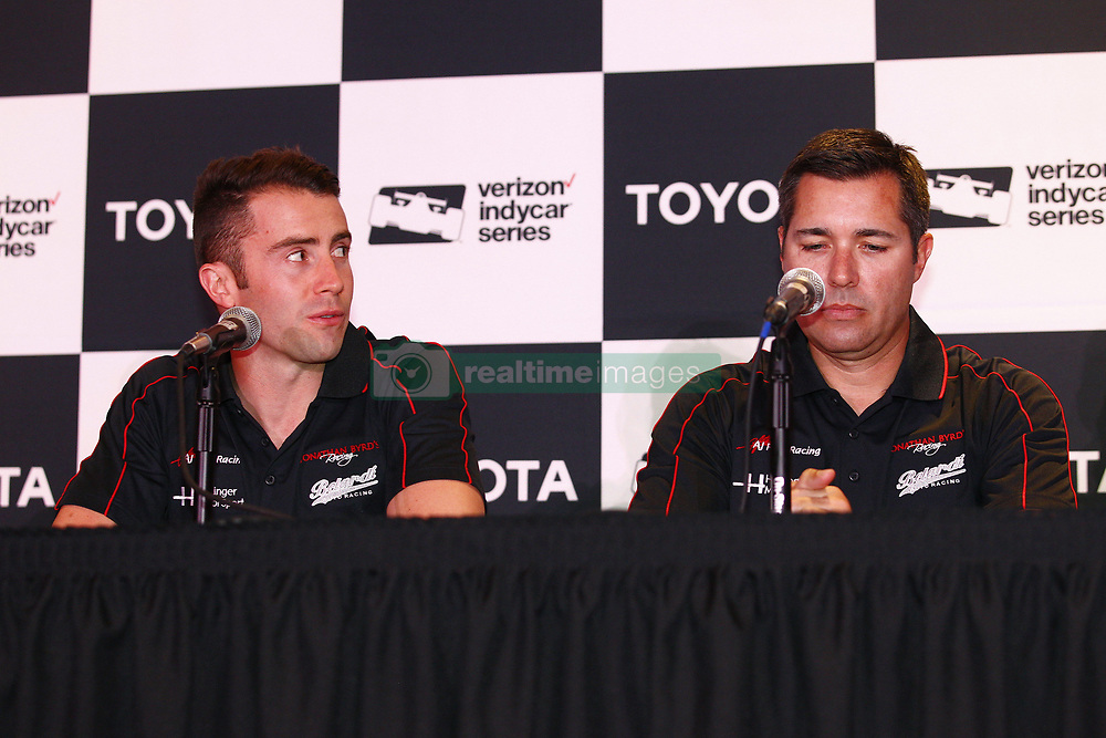 April 13, 2018 - Long Beach, California, United States of America - April 13, 2018 - Long Beach, California, USA:  A.J. Foyt Racing announces they will have a 3rd car and driver, James Daviison,  for the Indy 500 during a press announcement prior to the Toyota Grand Prix of Long Beach at Streets of Long Beach in Long Beach, California. (Credit Image: © Justin R. Noe Asp Inc/ASP via ZUMA Wire)
