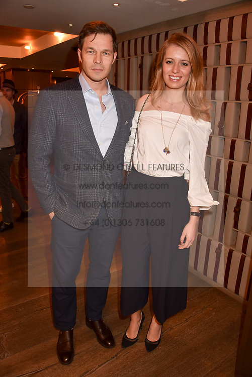 Paul Sculfor and Federica Amati Sculfor at a party to celebrate the publication of Place by Tara Bernerd held at il Pampero at The Hari, 20 Chesham Place, London, England. 8 March 2017.