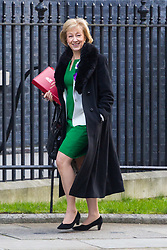 Leader of the House of Commons Andrea Leadsom arrives at 10 Downing Street in London to attend the weekly meeting of the UK cabinet - London. February 06 2018.