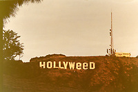 1976 Hollywood sign altered to read Hollyweed