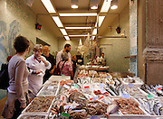 Bologna, selling fish local market