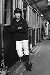 23rd November 2017 - Michael Owen Horse Racing - Former footballer Michael Owen poses for a portrait at Manor House Stables in Cheshire ahead of his first ever race as a jockey - Photo: Simon Stacpoole / Offside.
