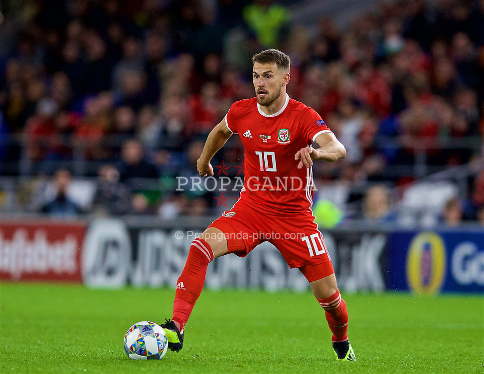 CARDIFF, WALES - Thursday, September 6, 2018: Wales' Aaron Ramsey during the UEFA Nations League Group Stage League B Group 4 match between Wales and Republic of Ireland at the Cardiff City Stadium. (Pic by Paul Greenwood/Propaganda)