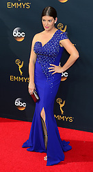 September 18, 2016 - Los Angeles, California, United States - Gail Simmons arrives at the 68th Annual Emmy Awards at the Microsoft Theater in Los Angeles, California on Sunday, September 18, 2016. (Credit Image: © Michael Owen Baker/Los Angeles Daily News via ZUMA Wire)
