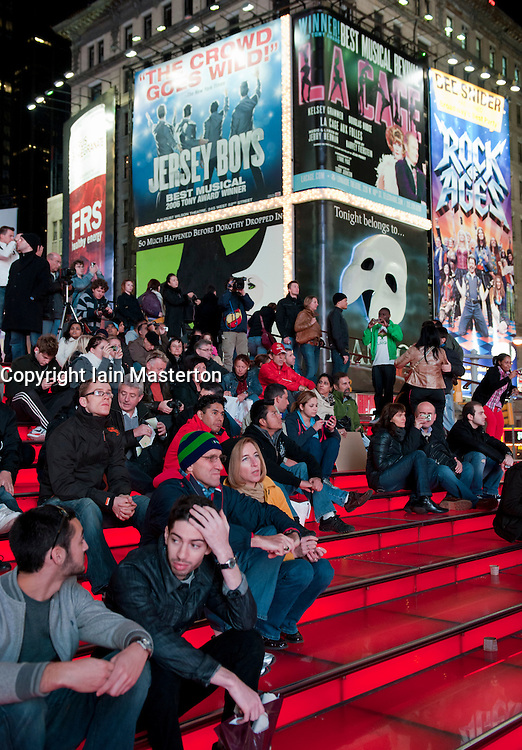 Times Square in the evening on Manhattan Island New York City USA