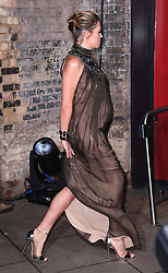Abbey Clancy arriving at the Fabulous Fund Fair, Camden Roundhouse, London.<br />Photo credit should read: Doug Peters/EMPICS