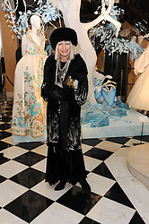 VIRGINIA BATES at the launch of the Claridge's Christmas Tree designed by John Galliano for Dior held at Claridge's, Brook Street, London on 1st December 2009.