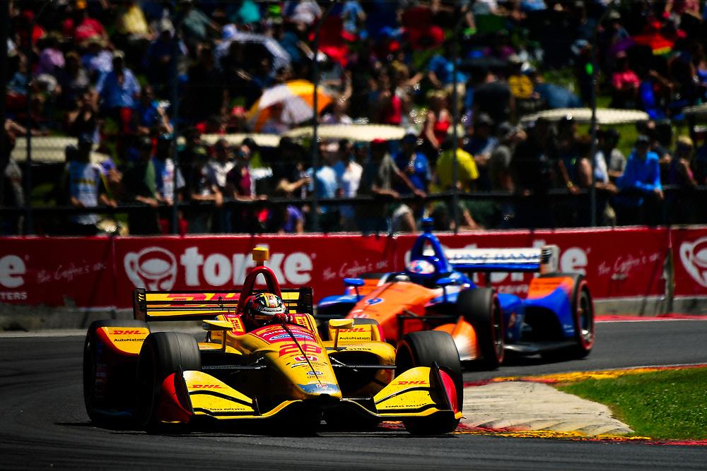 Ryan Hunter-Reay, Andretti Autosport Honda<br /> Sunday 24 June 2018<br /> KOHLER Grand Prix at Road America<br /> Verizon IndyCar Series<br /> Road America WI USA<br /> World Copyright: Scott R LePage