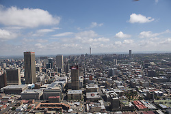JOHANNESBURG, SOUTH AFRICA - NOVEMBER 20: An aerial view shows Johannesburg business district in Johannesburg, South Africa on November 20, 2016. Shiraaz Mohamed / Anadolu Agency    BRAA20161120_619 Johannesburg Afrique du Sud South Africa