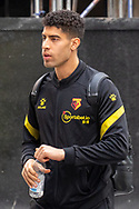Watford defender Adam Masina (11) arrives at The Brentford Community Stadium ahead of the EFL Sky Bet Championship match between Brentford and Watford at Brentford Community Stadium, Brentford, England on 1 May 2021.