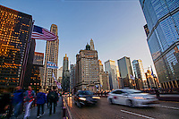 Michigan Avenue Bridge @ Sunset