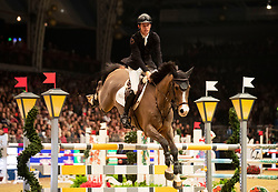 Great Britain's Scott Brash riding Hello Jefferson competes in the Snowflake stakes during day four of the London International Horse Show at London Olympia.