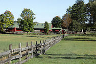 Salisbury Mills, New York - A view of Clove Brook Farm at the base of Schunnemunk Mountain on Oct. 2, 2010. The land will be preserved because the owners donated the development rights to the 183-acre 18th-century farm to the Orange County Land Trust in 2001.