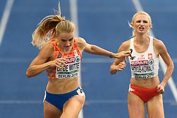 Lisanne de Witte werd derde in de haar halve finale, maar ging dankzij een snelle tijd toch door naar de finale 400m bij het EK atletiek in Berlijn op 9-8-2018