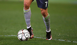 Detail of Real Madrid's Cristiano Ronaldo in action