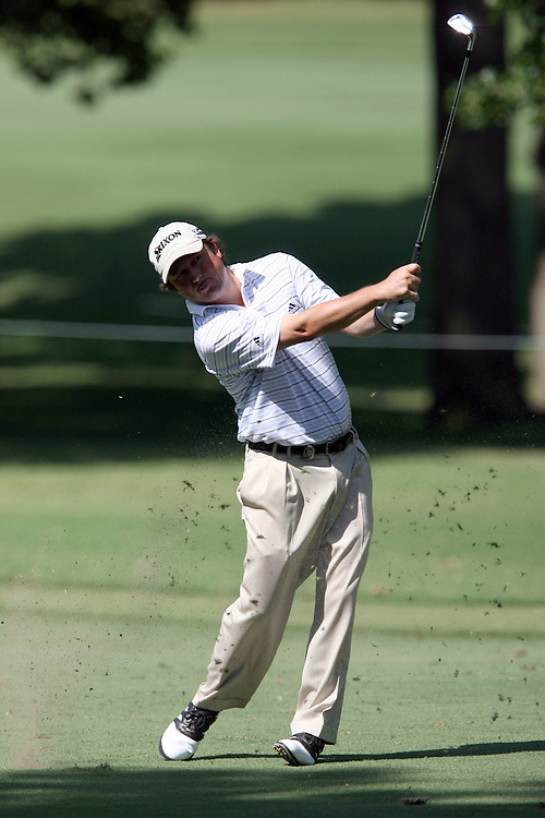 09 August 2007: Tim Clark makes his approach shot onto the 9th green during the first round of the 89th PGA Championship at Southern Hills Country Club in Tulsa, OK.