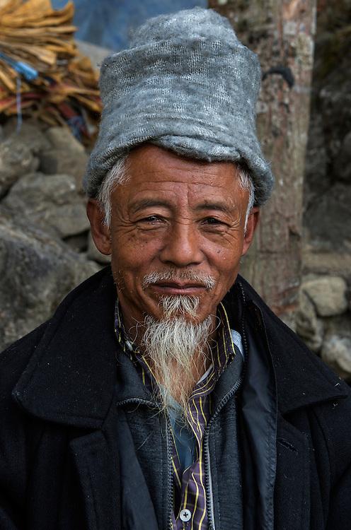 Portrait of a local woodsman, Darjeeling
