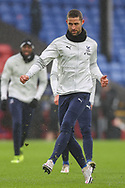 Crystal Palace defender Gary Cahill (24) warming up prior to the Premier League match between Crystal Palace and Wolverhampton Wanderers at Selhurst Park, London, England on 30 January 2021.