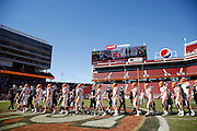 Manteca and Oakdale shake hands after Oakdale's 42-21 win during Friday Night Lights at Levi's Stadium in Santa Clara, California, on October 11, 2014. (Stan Olszewski/ Special to The Record)