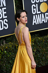January 6, 2019 - Los Angeles, California, U.S. - Claire Foy during red carpet arrivals for the 76th Annual Golden Globe Awards at The Beverly Hilton Hotel. (Credit Image: © Kevin Sullivan via ZUMA Wire)
