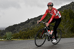 December 15, 2017 - Majorca, SPAIN - Belgian Jens Debusschere of Lotto Soudal pictured in action during a press day during Lotto-Soudal cycling team stage in Mallorca, Spain, ahead of the new cycling season, Friday 15 December 2017. BELGA PHOTO DIRK WAEM (Credit Image: © Dirk Waem/Belga via ZUMA Press)