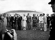 King Juan Carlos and Queen Sofia of Spain visit the burial mound of Newgrange as part of their state visit to Ireland.<br /> 30 June 1986