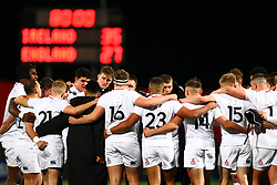 The England squad gather at the end of the game - Mandatory by-line: Ken Sutton/JMP - 01/02/2019 - RUGBY - Irish Independent Park - Cork, Cork - Ireland U20 v England U20 -