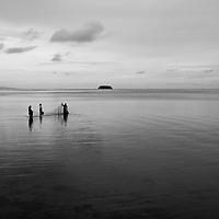 Opua, Raiatea, French Polynesia, natives fishing, Society Islands, Leeward Group
