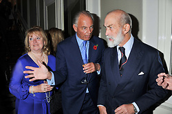 Left to right, The 4th MARQUESS & MARCHIONESS OF READING and HRH PRINCE MICHAEL OF KENT at a reception hosted by Beulah London and the United Nations to launch Beulah London's AW'11 Collection 'Clothed in Love' and the Beulah Blue Heart Campaign held at Dorsia, 3 Cromwell Road, London SW7 on 18th October 2011.