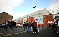 Fans congregate outside Ewood Park before todays match<br /> <br /> Photographer Kevin Barnes/CameraSport<br /> <br /> Football - The FA Cup Fifth Round - Blackburn Rovers v Stoke City - Saturday 14th February 2015 -  Ewood Park - Blackburn<br /> <br /> © CameraSport - 43 Linden Ave. Countesthorpe. Leicester. England. LE8 5PG - Tel: +44 (0) 116 277 4147 - admin@camerasport.com - www.camerasport.com