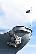 Closeup Detail of Ship Anchor on the USS Iowa